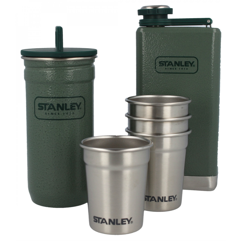 Подарочный набор (фляга 0.236 л, 4 рюмки и кейс) Stanley Adventure Зеленый