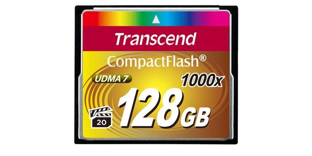 Карта памяти Transcend CF 128GB x1000 (TS128GCF1000)