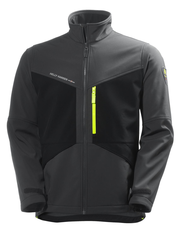 Куртка Helly Hansen Aker Softshell - 74051 (Dark Grey / Black; L)