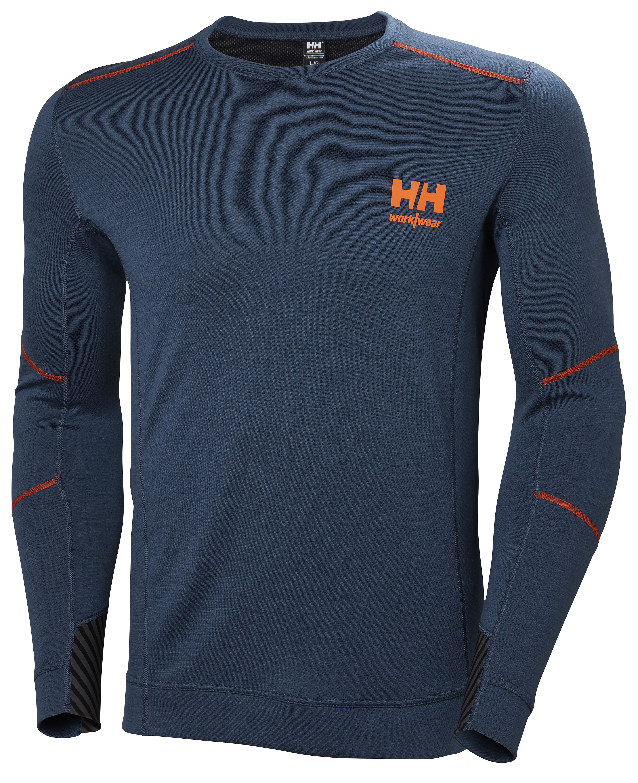 Футболка Helly Hansen HH Lifa Merino Crewneck - 75106 (Deep Steel; M)