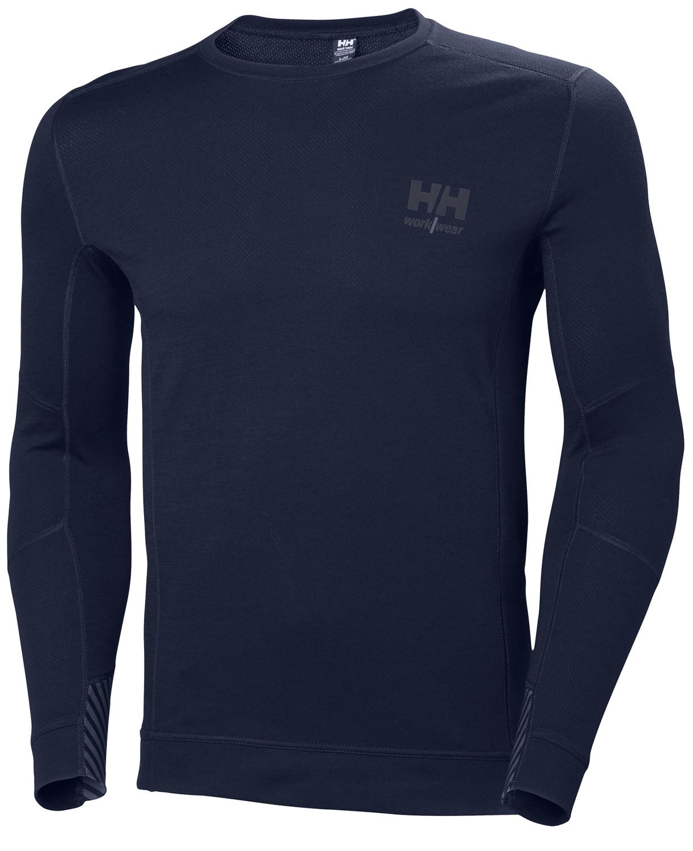 Футболка Helly Hansen HH Lifa Merino Crewneck - 75106 (Navy; M)