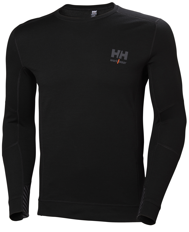 Футболка Helly Hansen HH Lifa Merino Crewneck - 75106 (Black; L)