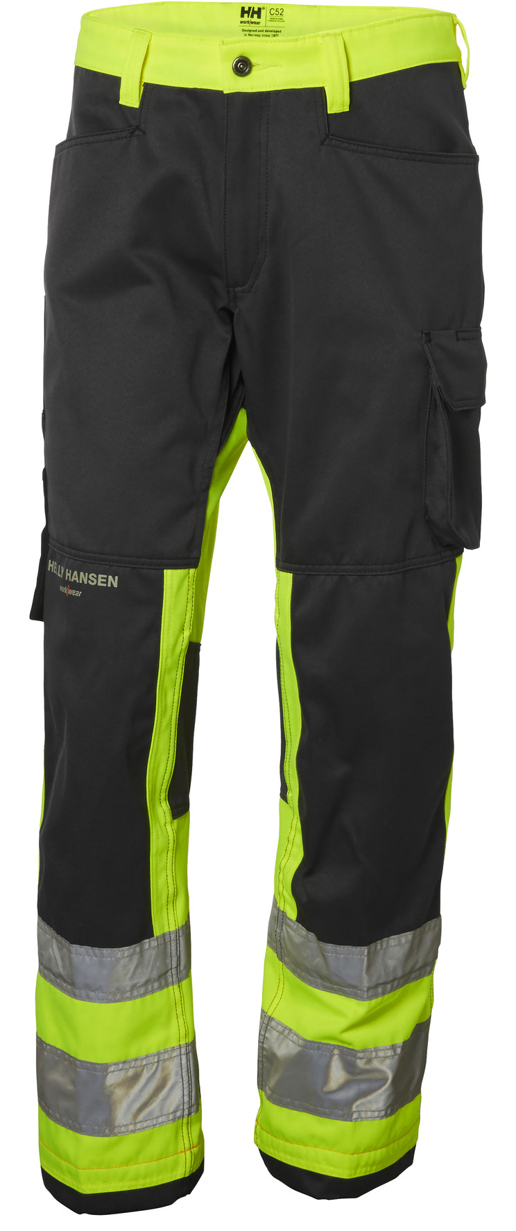 Штаны Helly Hansen Alna Pant Cl 1 - 77410 (HV Yellow / Charcoal; W36/L32)