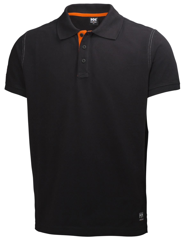 Футболка Helly Hansen Oxford Polo - 79025 (Black; M)