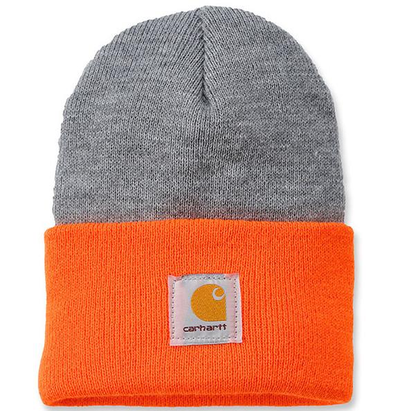 Шапка Carhartt Acrylic Watch Hat - A18 (Bright Orange/Heather Grey, OFA)