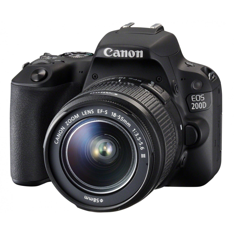 Фотоаппарат Canon EOS 200D Kit 18-55 DC Black
