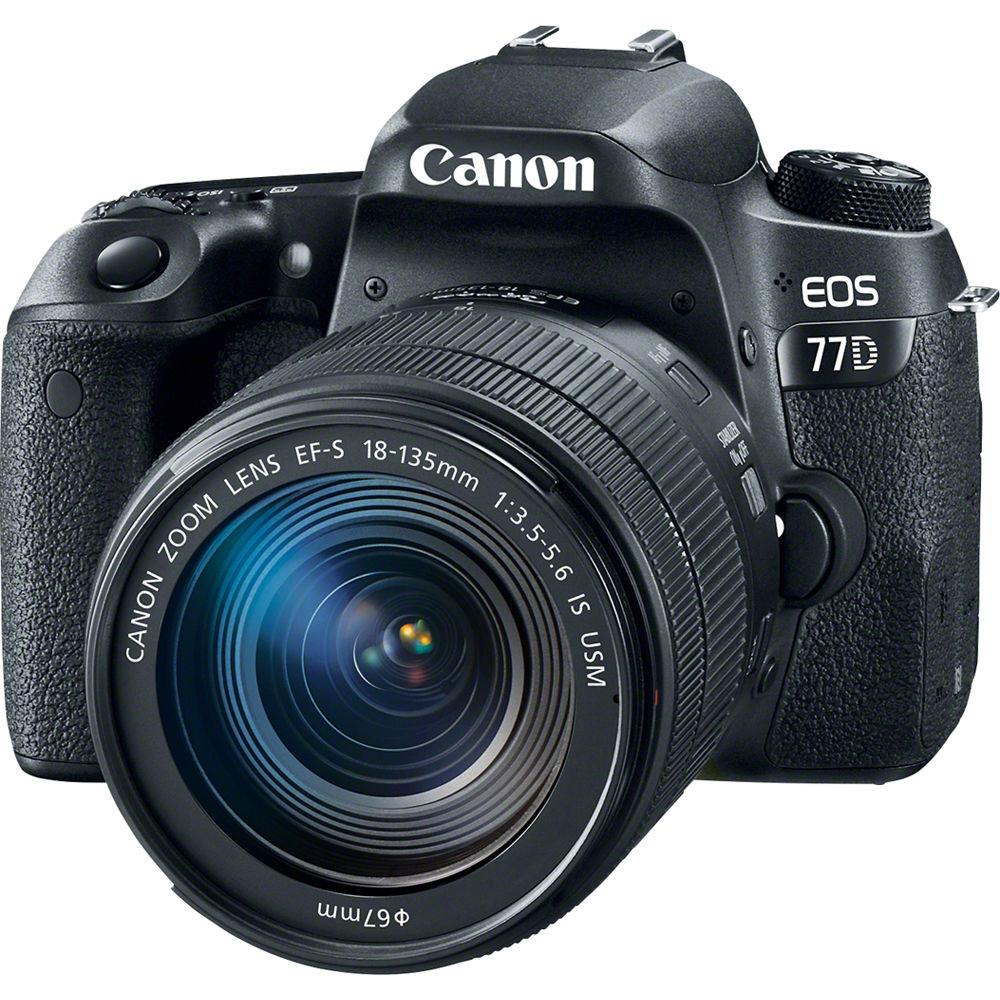 Фотоаппарат Canon EOS 77D Kit 18-135 NANO USM