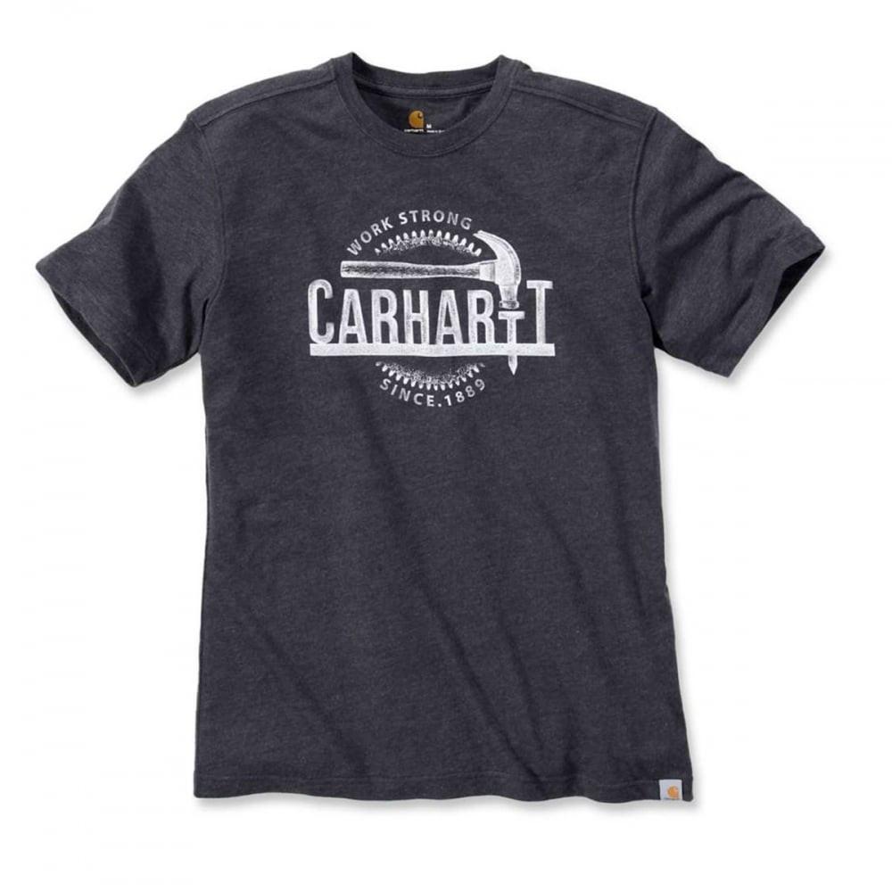 Футболка Carhartt Hammer Graphic T-Shirt S/S - 103202 (Carbon Heather, XS)