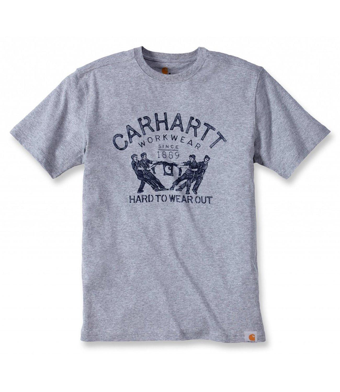 Футболка Carhartt Hard To Wear Out Graphic T-Shirt S/S - 102097 (Heather Grey, XL)