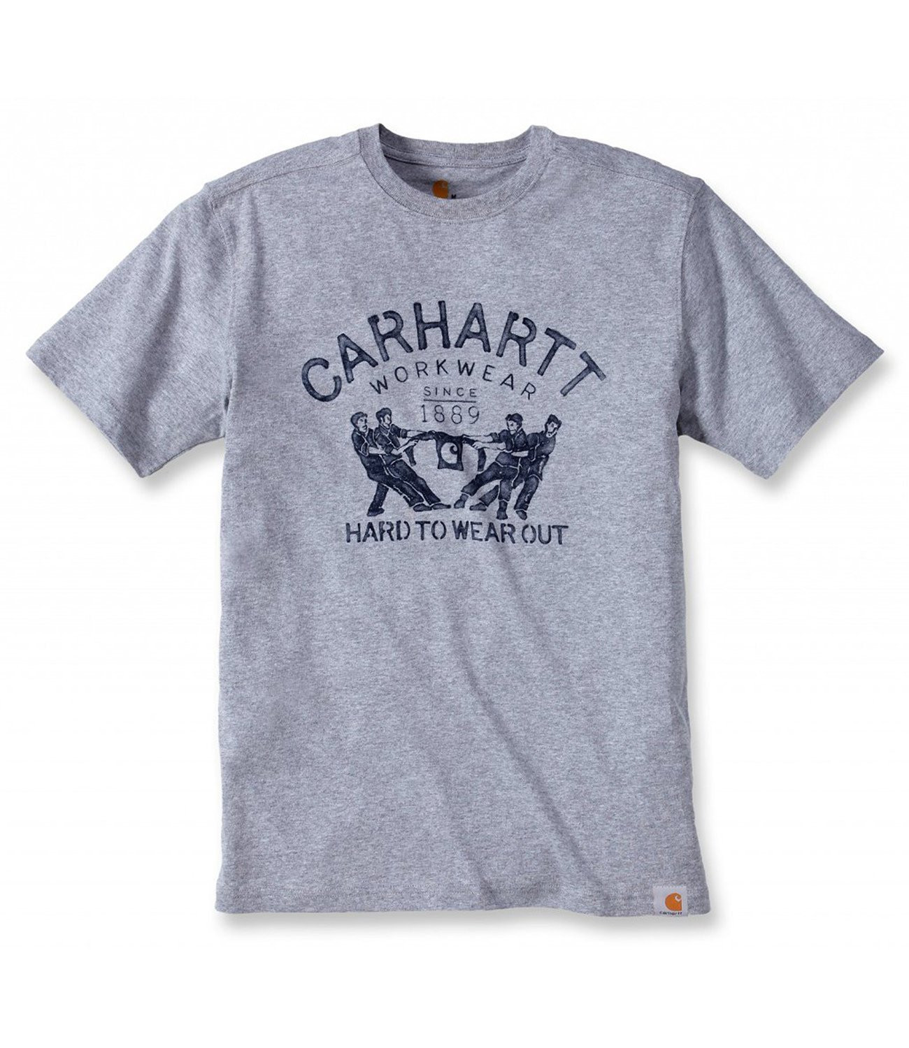 Футболка Carhartt Hard To Wear Out Graphic T-Shirt S/S - 102097 (Heather Grey, S)