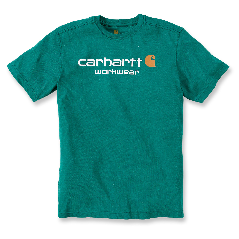 Футболка Carhartt Core Logo T-Shirt S/S - 101214 (Alpine Heather, L)