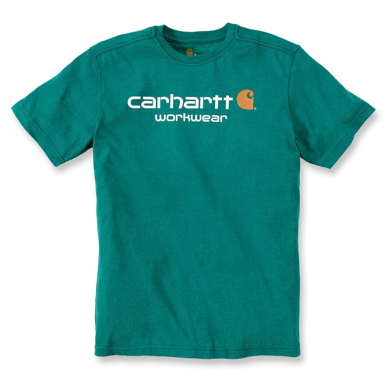 Футболка Carhartt Core Logo T-Shirt S/S - 101214 (Alpine Heather, S)