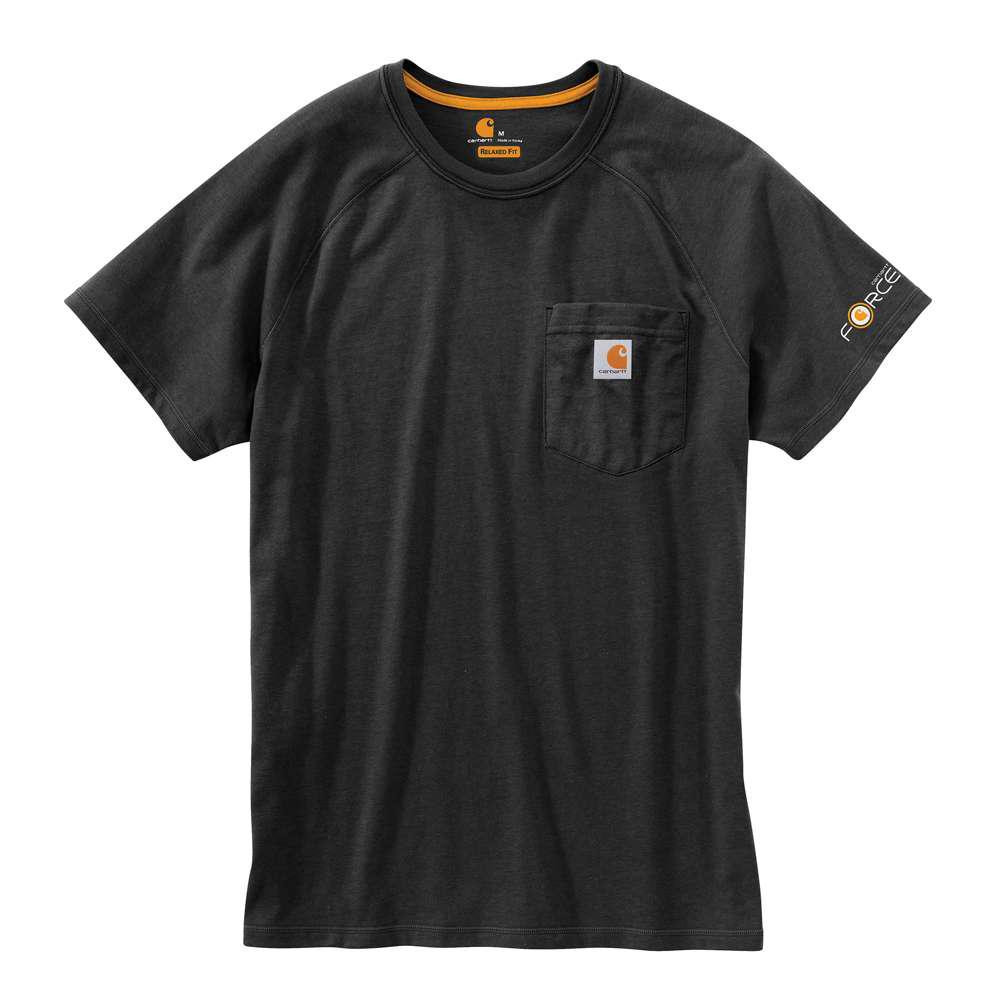 Футболка Carhartt Force Cotton T-Shirt S/S - 100410 (Black, XL)