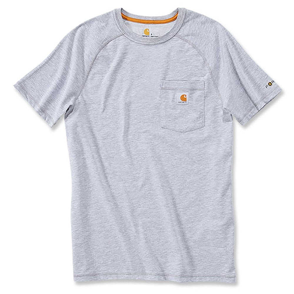 Футболка Carhartt Force Cotton T-Shirt S/S - 100410 (Heather Grey, S)