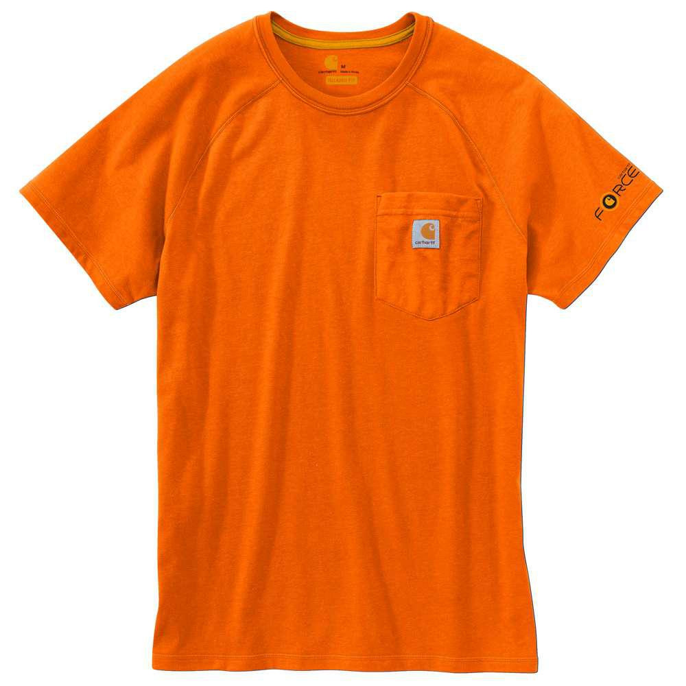 Футболка Carhartt Force Cotton T-Shirt S/S - 100410 (Orange, XL)