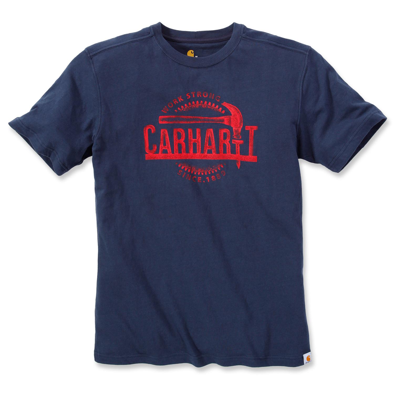 Футболка Carhartt Hammer Graphic T-Shirt S/S - 103202 (Navy, XL)