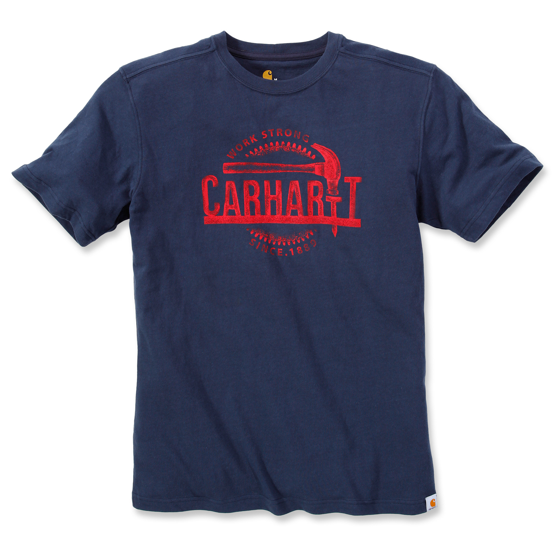 Футболка Carhartt Hammer Graphic T-Shirt 103202 (Navy)