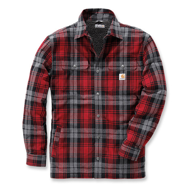 Рубашка-куртка Carhartt Hubbard Shirt Jacket - 102333 (Dark Crimson, L)