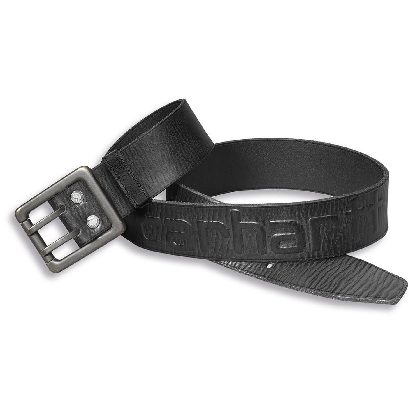 Ремень кожаный Carhartt Logo Belt - 2217 (Black, W34)
