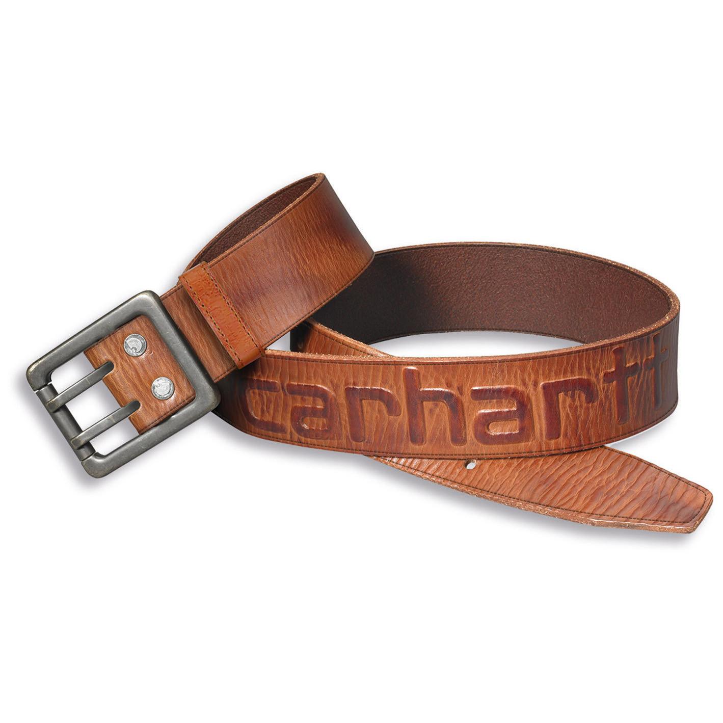 Ремень кожаный Carhartt Logo Belt - 2217 (Carhartt Brown, W36)