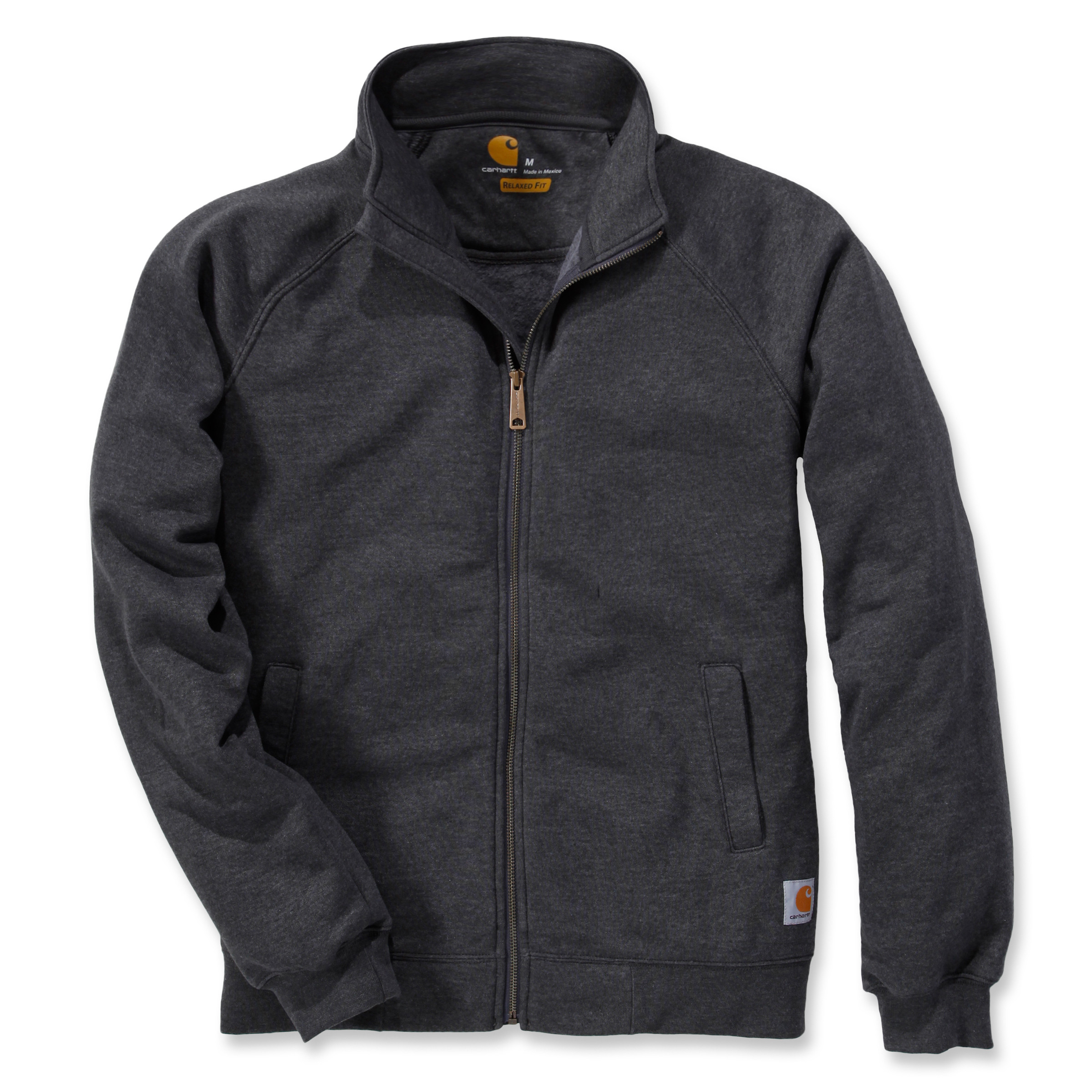 Свитшот на молнии Carhartt Midweight Mock Neck Zip Sweatshirt - K350 (Carbon Heather, XL)