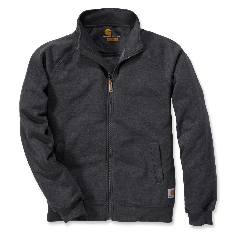 Свитшот на молнии Carhartt Midweight Mock Neck Zip Sweatshirt - K350 (Carbon Heather, S)