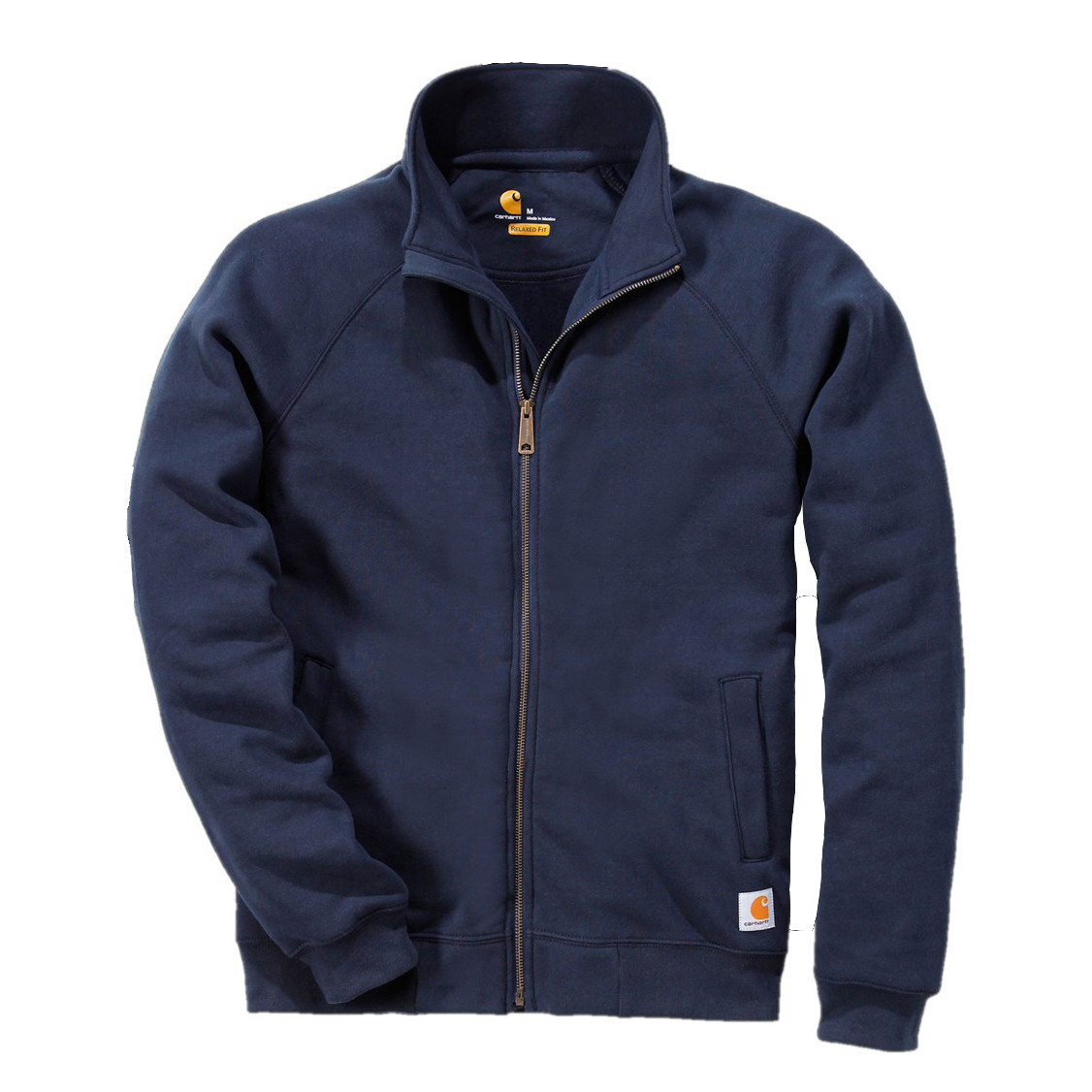 Свитшот на молнии Carhartt Midweight Mock Neck Zip Sweatshirt - K350 (New Navy, L)
