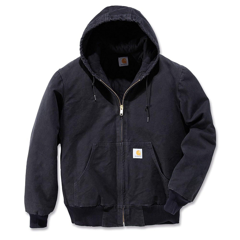 Куртка-кенгуру Carhartt Sandstone Active Jacket - J130 (Black, M)
