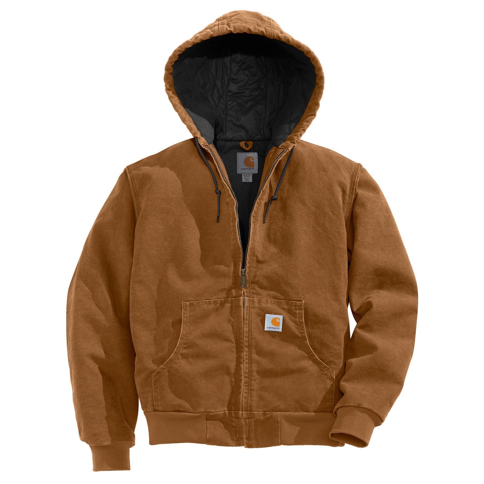 Куртка-кенгуру Carhartt Sandstone Active Jacket - J130 (Carhartt Brown, M)