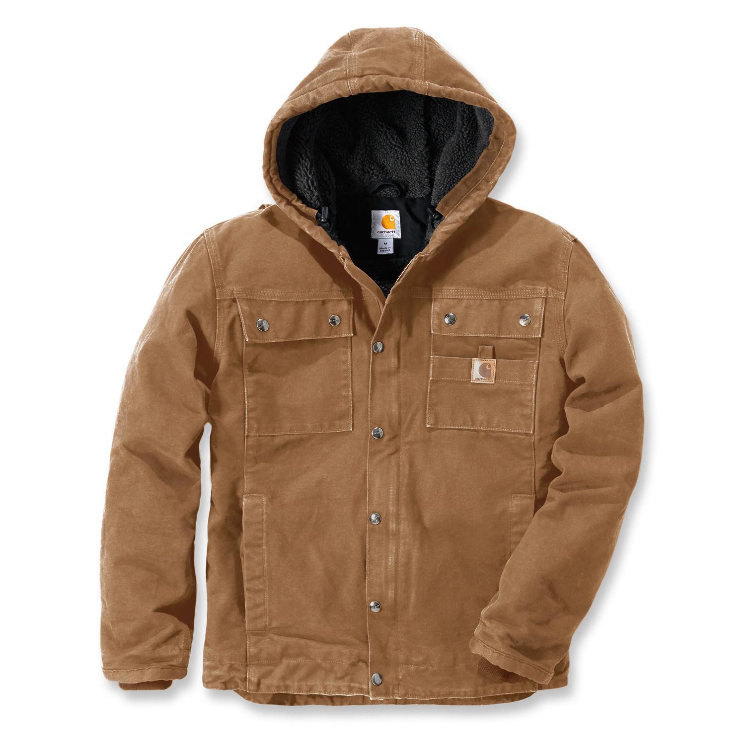 Куртка котоновая Carhartt Sandstone Barlett Jacket - 102285 (Carhartt Brown, S)