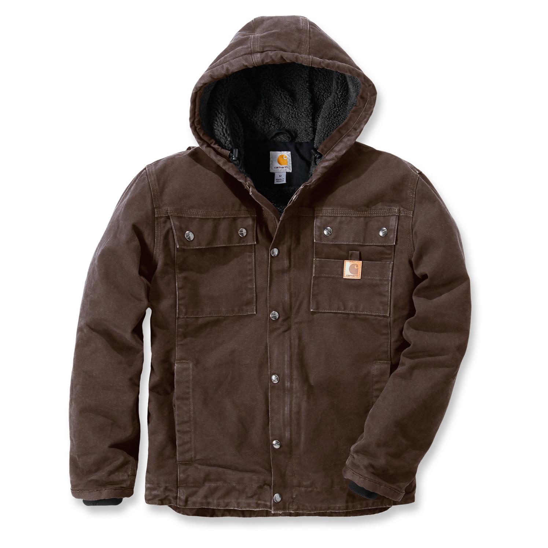 Куртка котоновая Carhartt Sandstone Barlett Jacket - 102285 (Dark Brown, L)