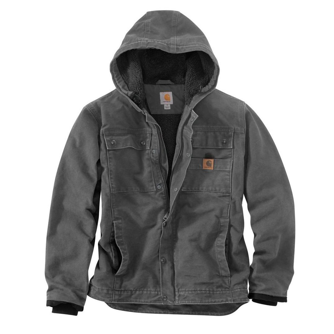 Куртка котоновая Carhartt Sandstone Barlett Jacket - 102285 (Gravel, XL)