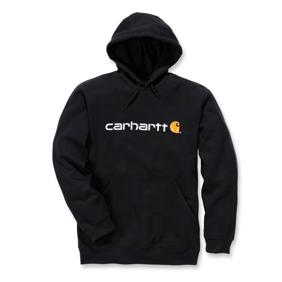 Худи Carhartt Signature Logo Hooded Sweatshirt - 100074 (Black, M)