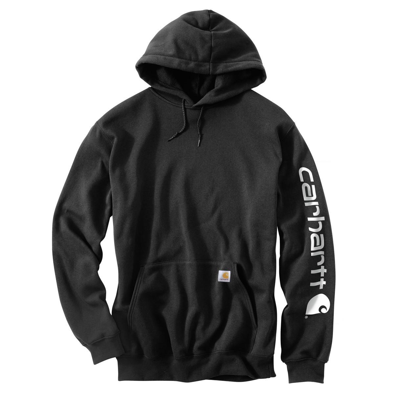 Худи Carhartt Sleeve Logo Hooded Sweatshirt - K288 (Black, XL)
