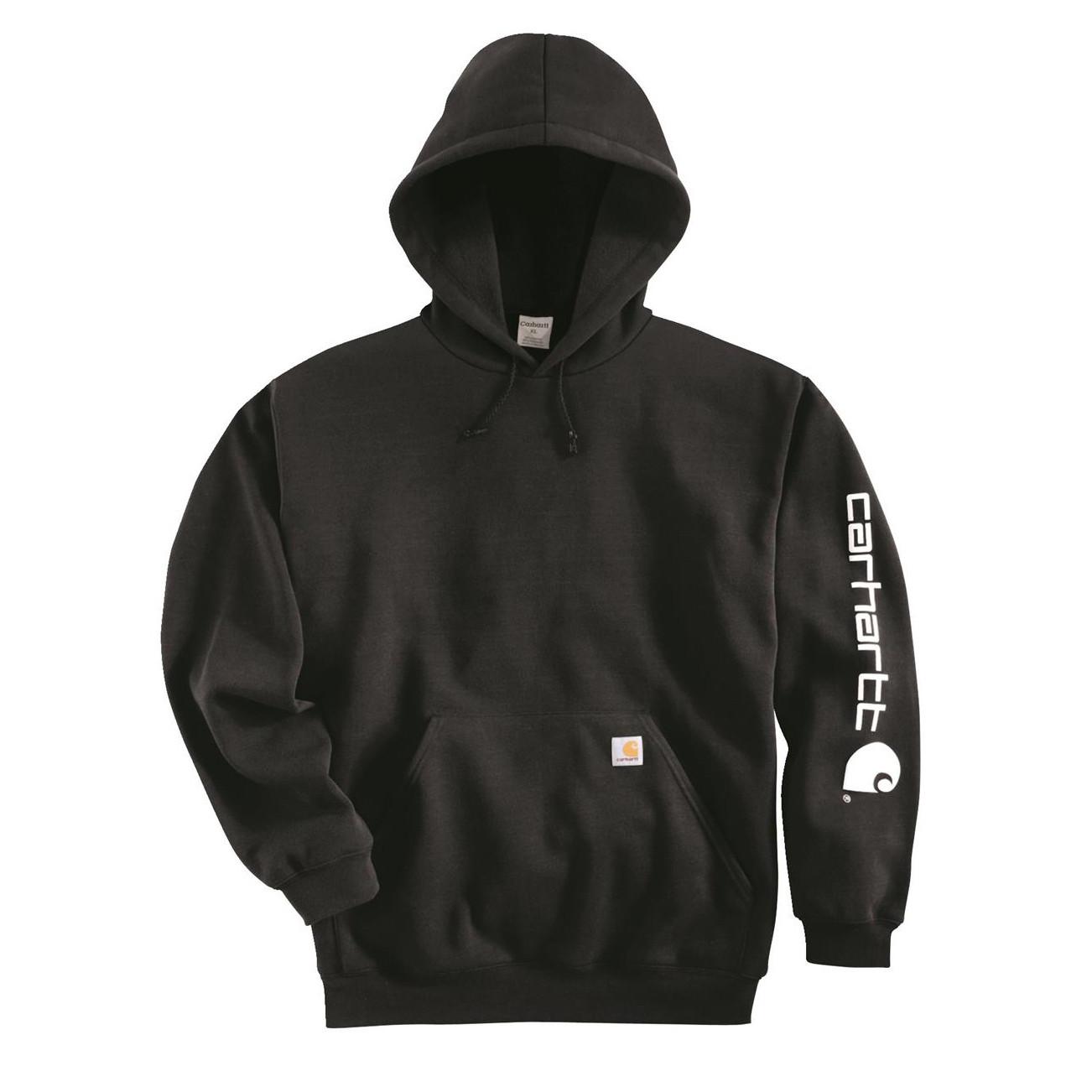 Худи Carhartt Sleeve Logo Hooded Sweatshirt - K288 (Dark Brown, L)
