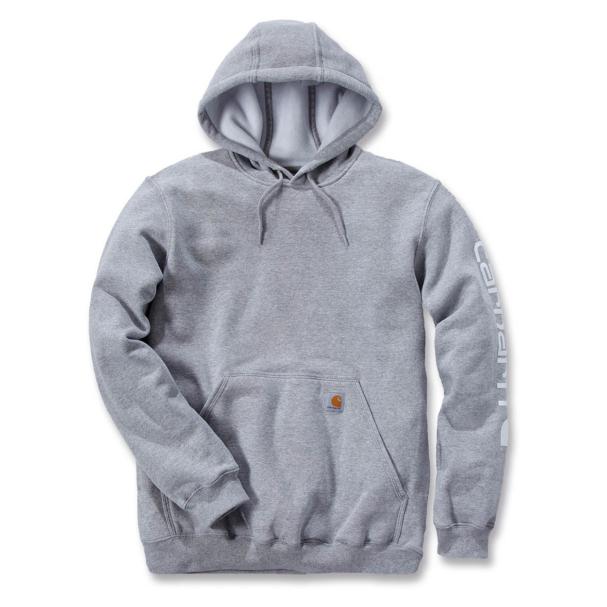 Худи Carhartt Sleeve Logo Hooded Sweatshirt - K288 (Heather Grey, M)