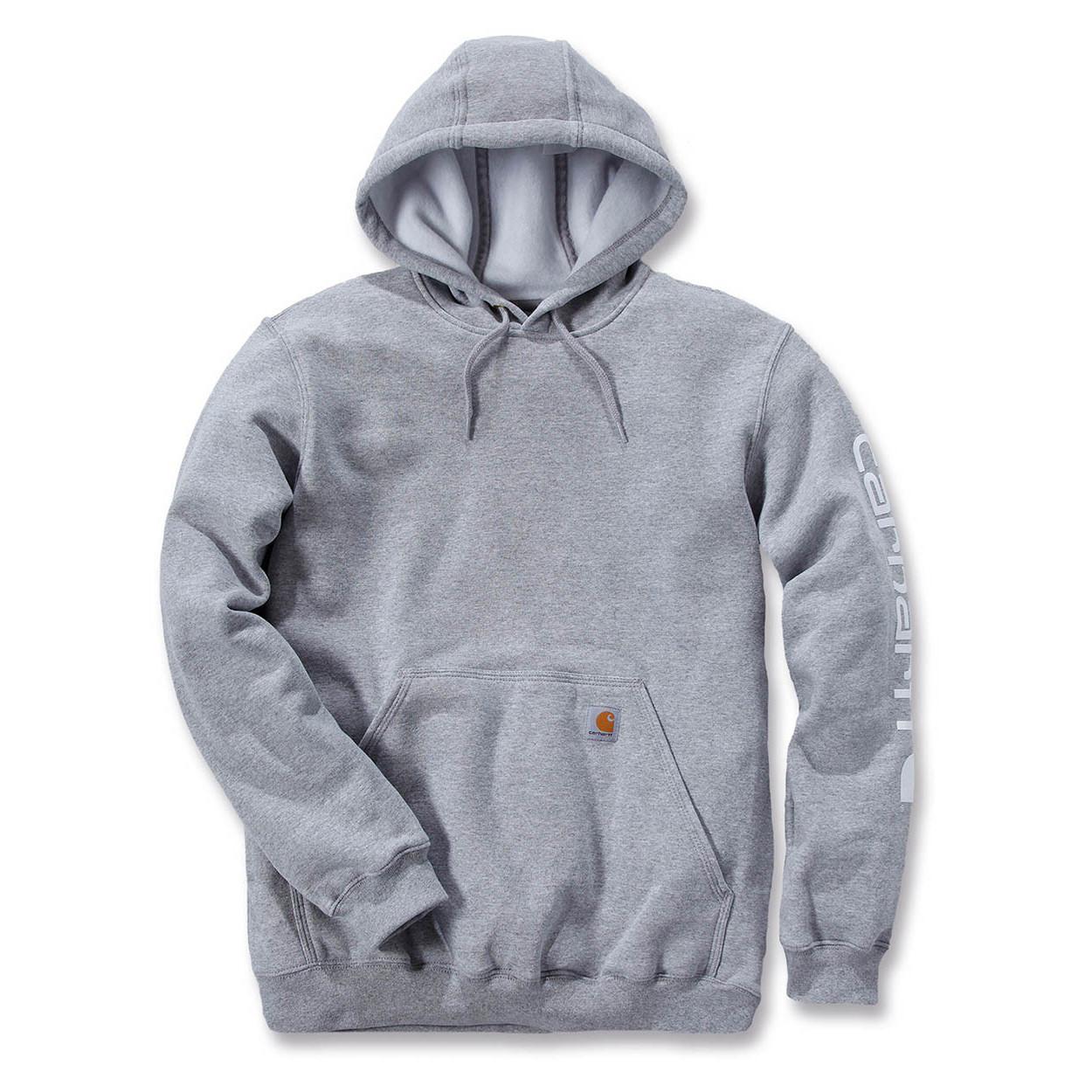 Худи Carhartt Sleeve Logo Hooded Sweatshirt - K288 (Heather Grey, L)
