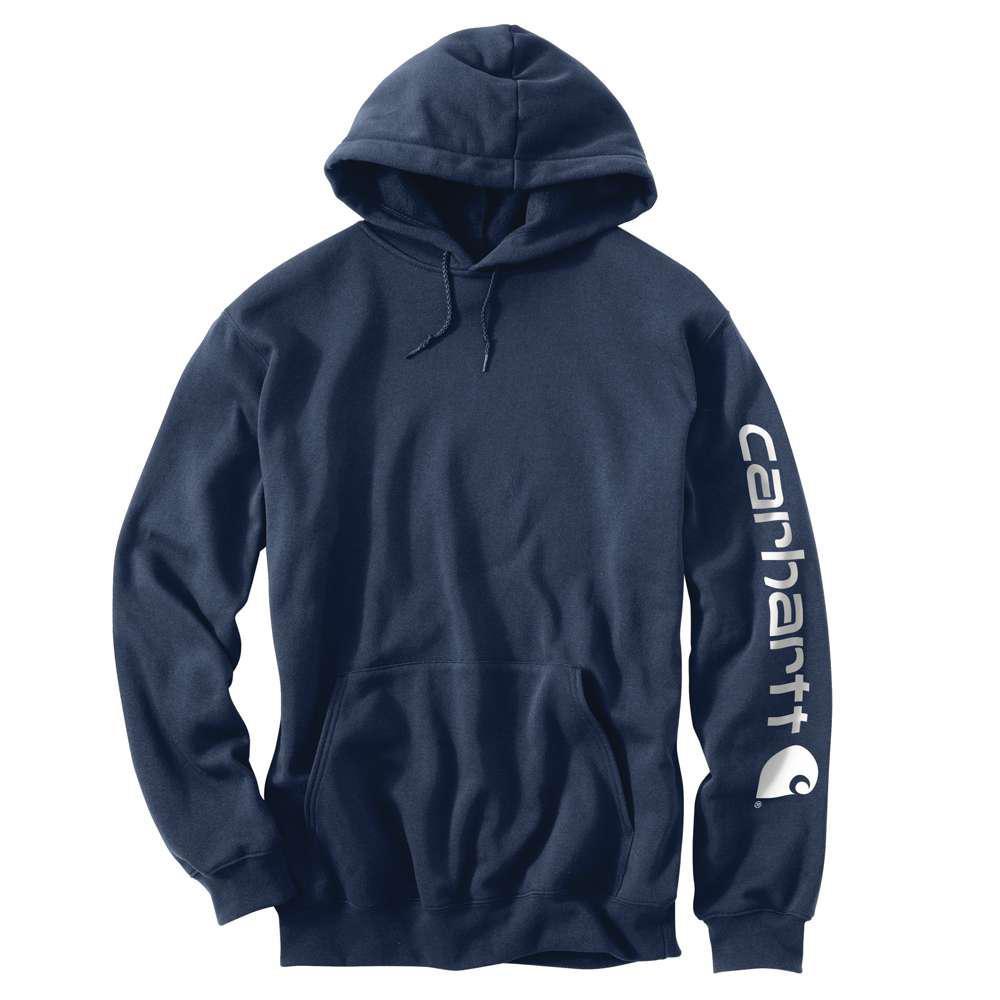 Худи Carhartt Sleeve Logo Hooded Sweatshirt - K288 (New Navy, M)