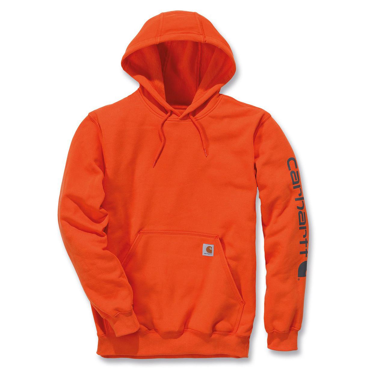 Худи Carhartt Sleeve Logo Hooded Sweatshirt - K288 (Orange, L)