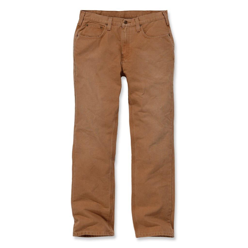 Штаны Carhartt Weathered Duck 5 Pocket Pant - 100096 (Carhartt Brown, W33/L34)