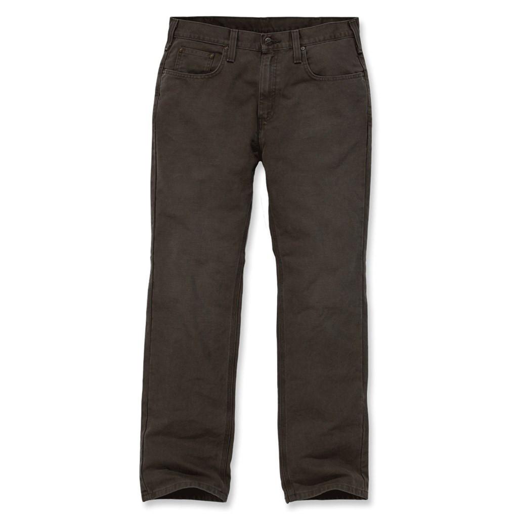 Штаны Carhartt Weathered Duck 5 Pocket Pant - 100096 (Dark Coffee, W34/L34)