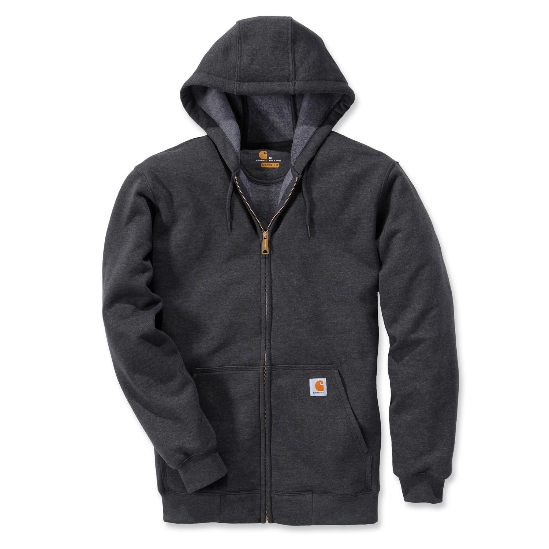 Худи на молнии Carhartt Zip Hooded Sweatshirt - K122 (Carbon Heather, M)