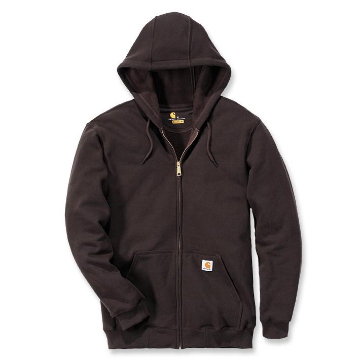 Худи на молнии Carhartt Zip Hooded Sweatshirt - K122 (Dark Brown, L)
