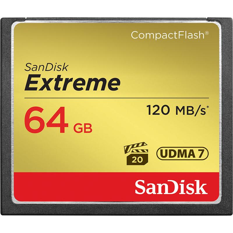 Карта памяти CF Sandisk Extreme 64GB (R120/W85)