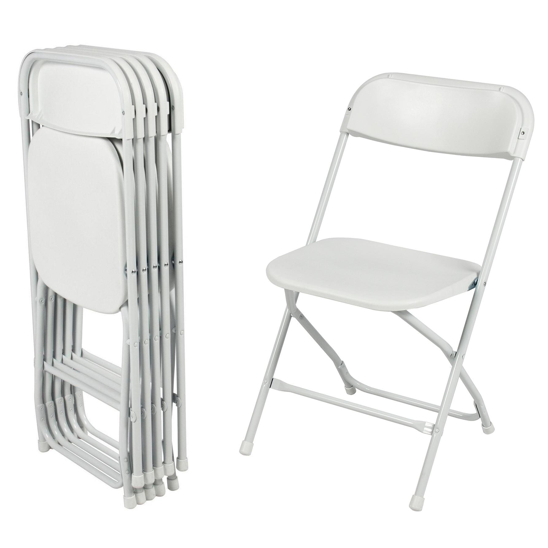Стул складной для дома, конференций, пикника CarryOn Etna белый (6 штук)