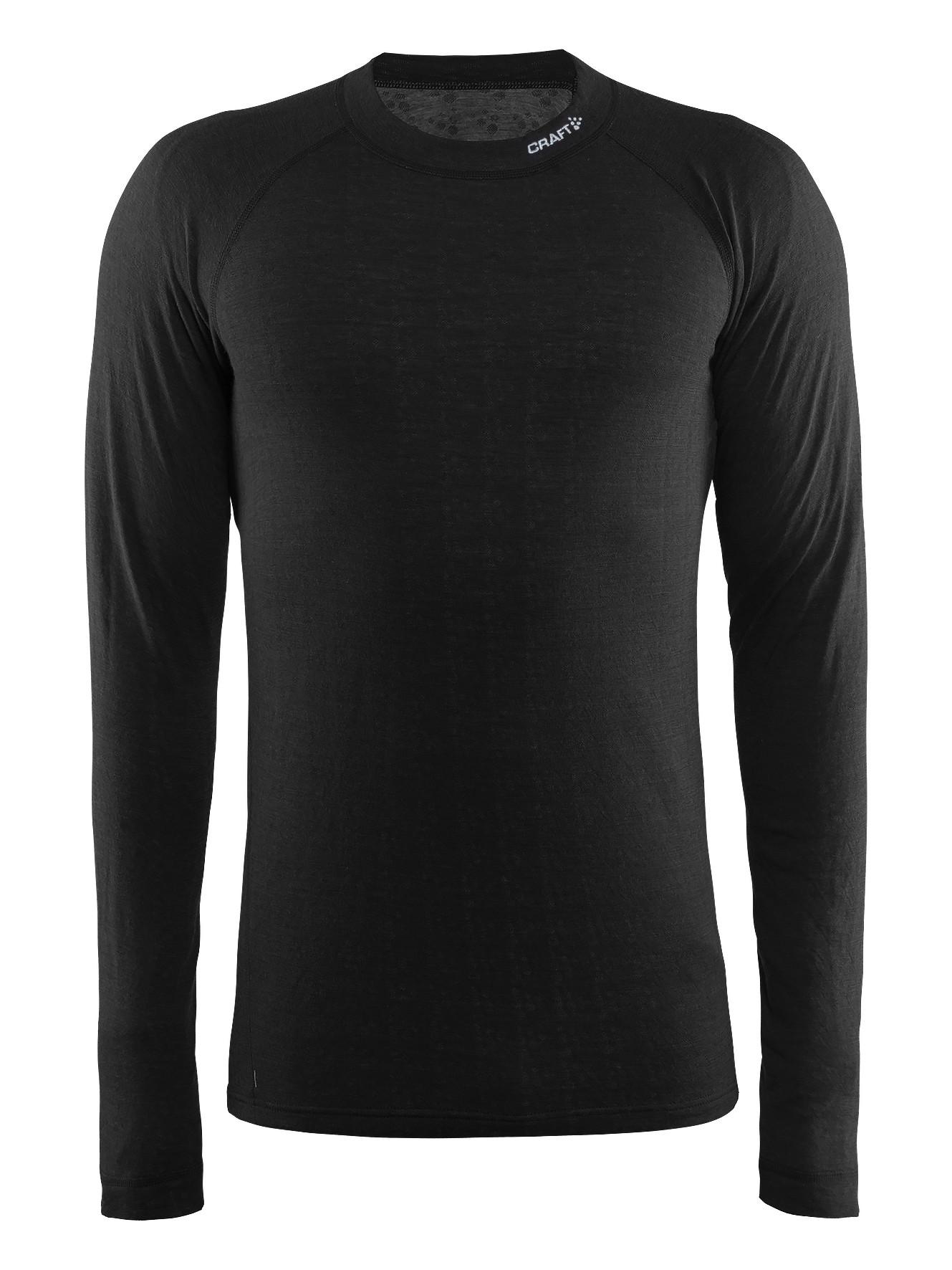 Термофутболка Craft Nordic Wool CN M Black/Dark Grey Melange M