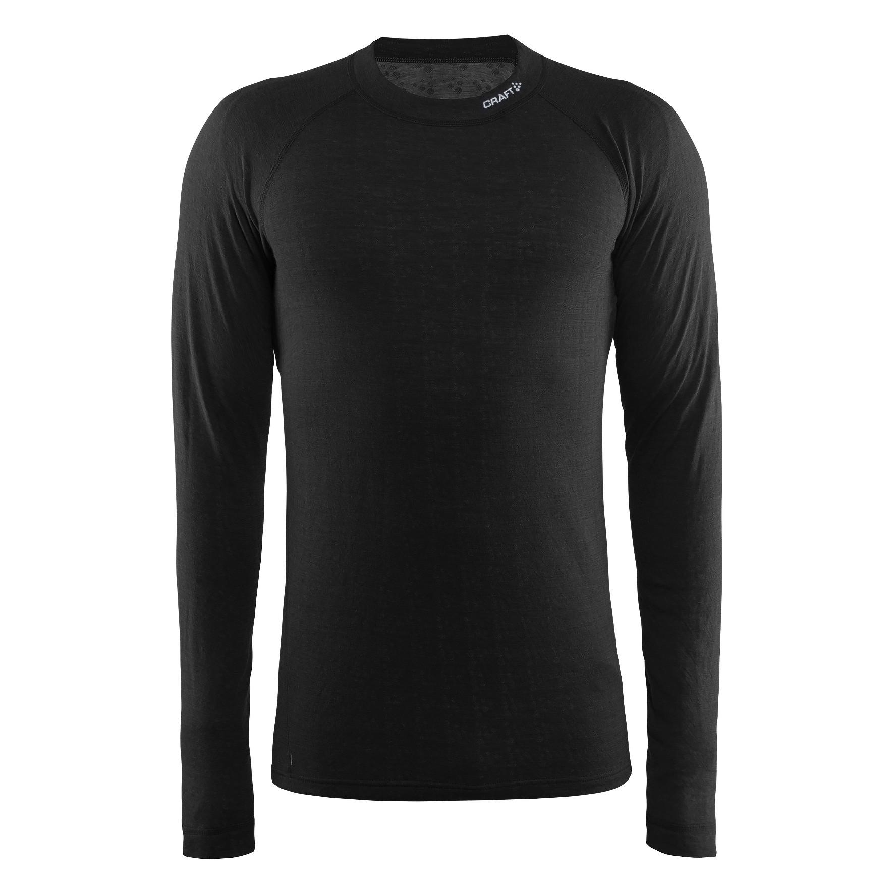 Термофутболка Craft Nordic Wool CN M Black/Dark Grey Melange S