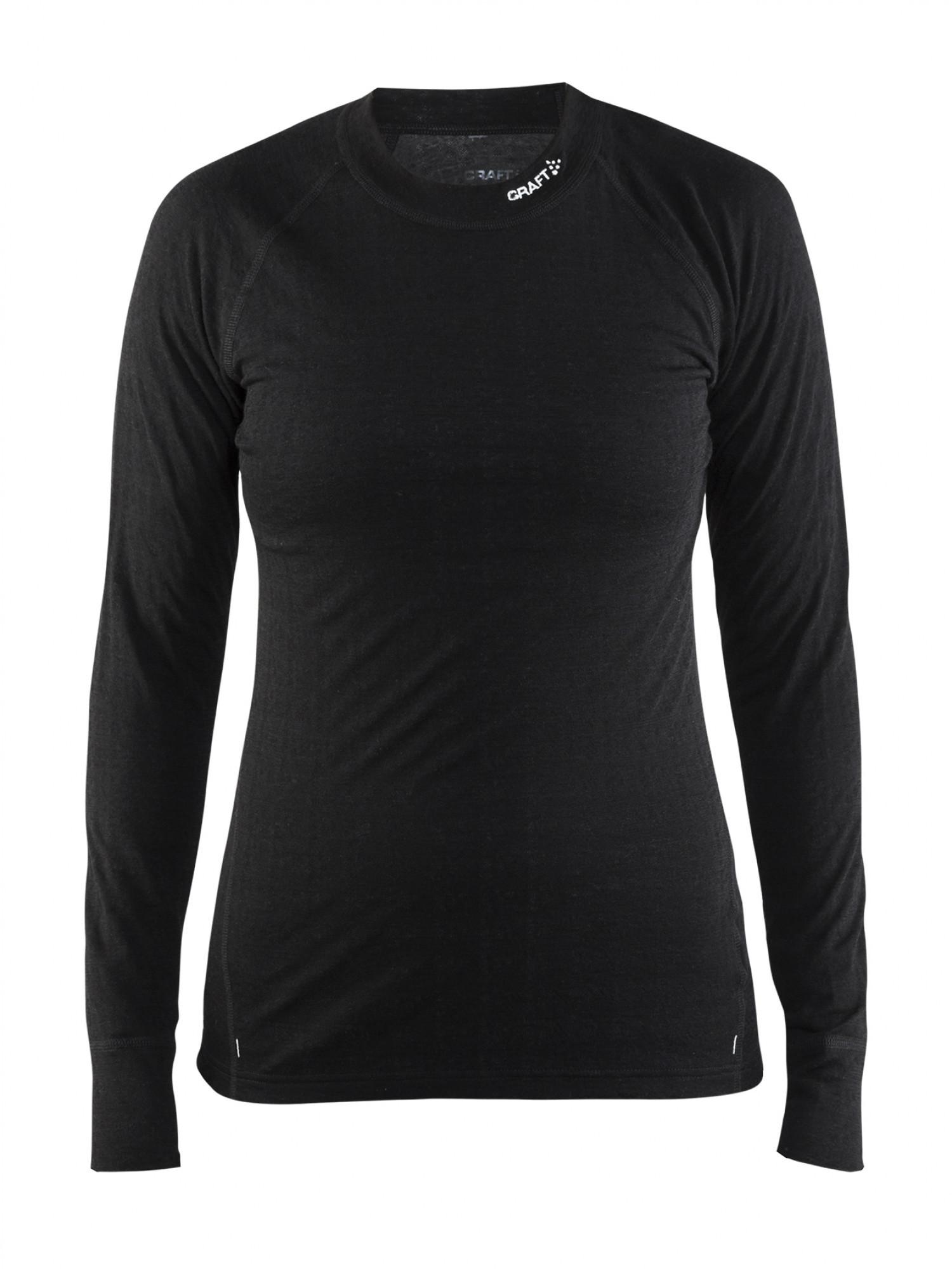 Термофутболка женская Craft Nordic Wool CN Woman Black/Dark Grey Melange XS