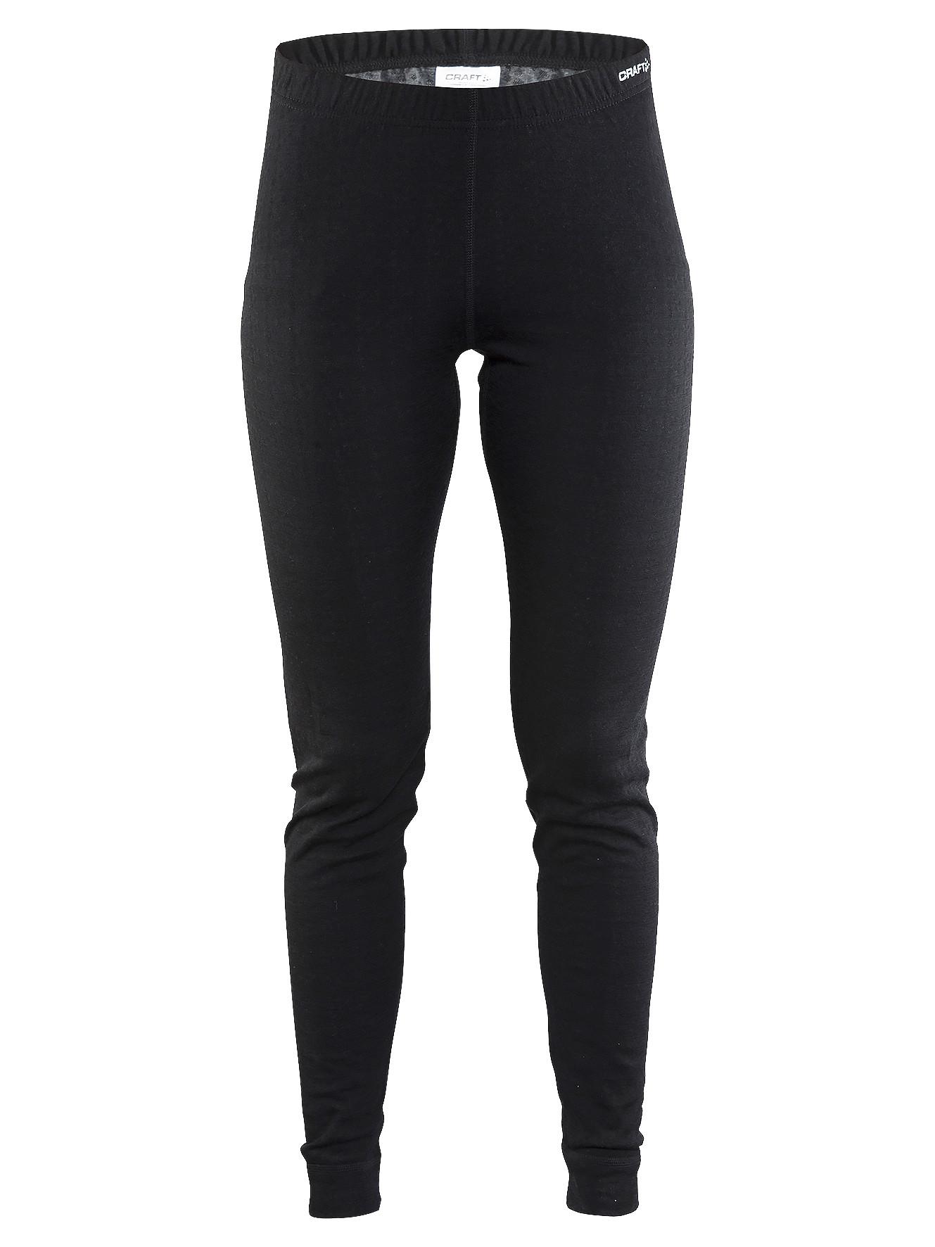 Термоштаны женские Craft Nordic Wool Pants Woman Black/Dark Grey Melange XS