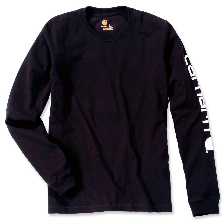 Футболка с длинным рукавом Carhartt Sleeve Logo T-Shirt L/S - EK231 (Black, S)